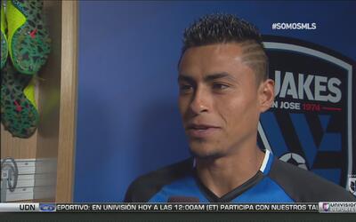 Darwin Cerén emocionado de poder demostrar su fútbol en el San Jose Eart...