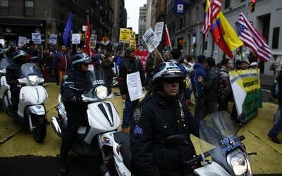 Nueva York se une a las protestas del día del trabajo