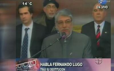 El senado de Paraguay destituyó al Presidente Fernando Lugo