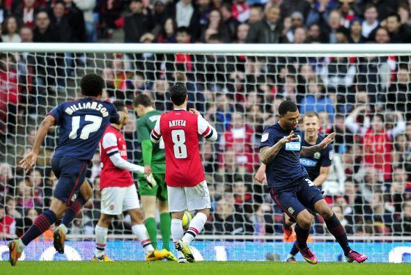 El delantero del Blackburn Rovers fue el verdugo del Arsenal en la FA Cup.