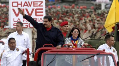 Nicolás Maduro y Cilia Flores.
