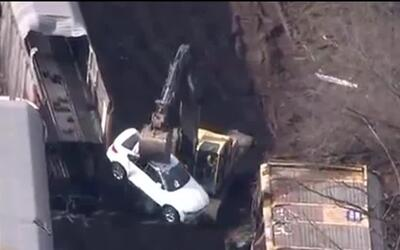 97 vehículos BMW nuevos resultaron destruidos durante un choque de trenes
