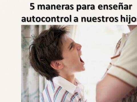 5 maneras de enseñar autocontrol
