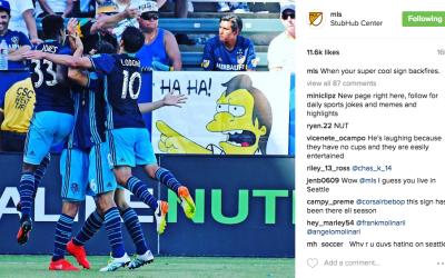 Instagram de la MLS trolea al LA Galaxy