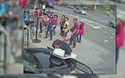 Video de la mujer que violó la seguridad de la Casa Blanca