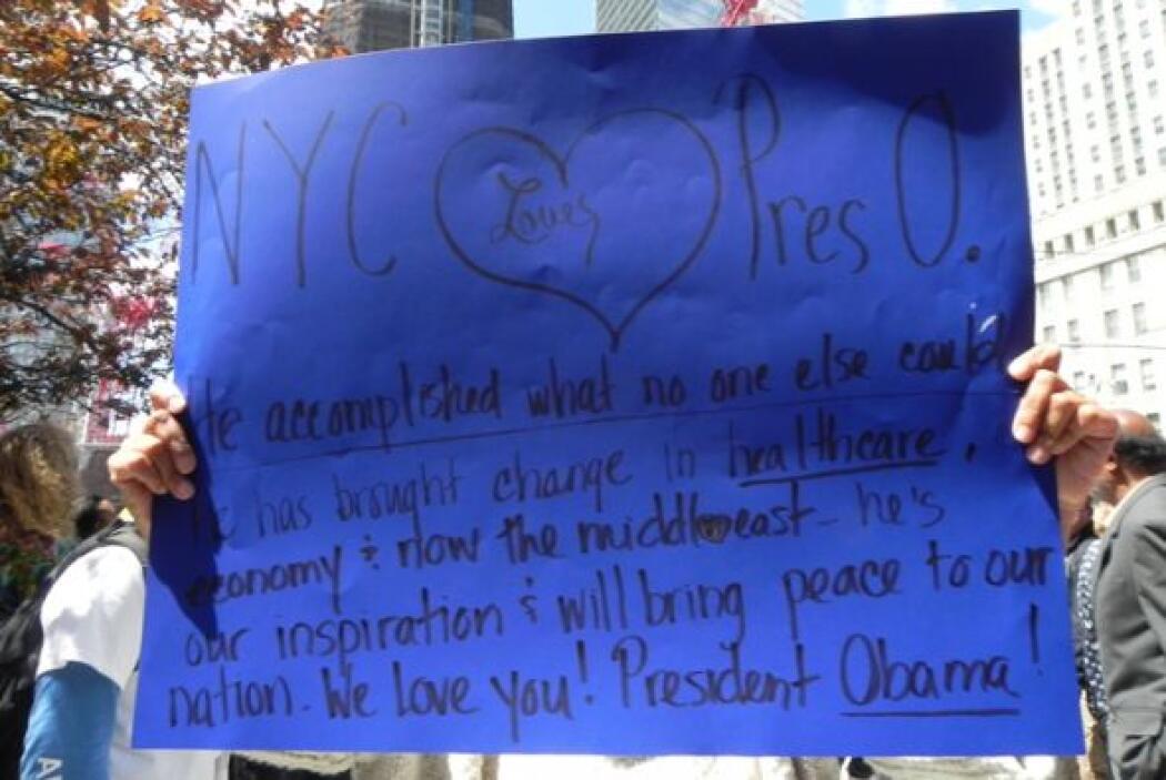 """Una neoyorquina mandó un mensaje al presidente, este dice """"Nueva York  a..."""