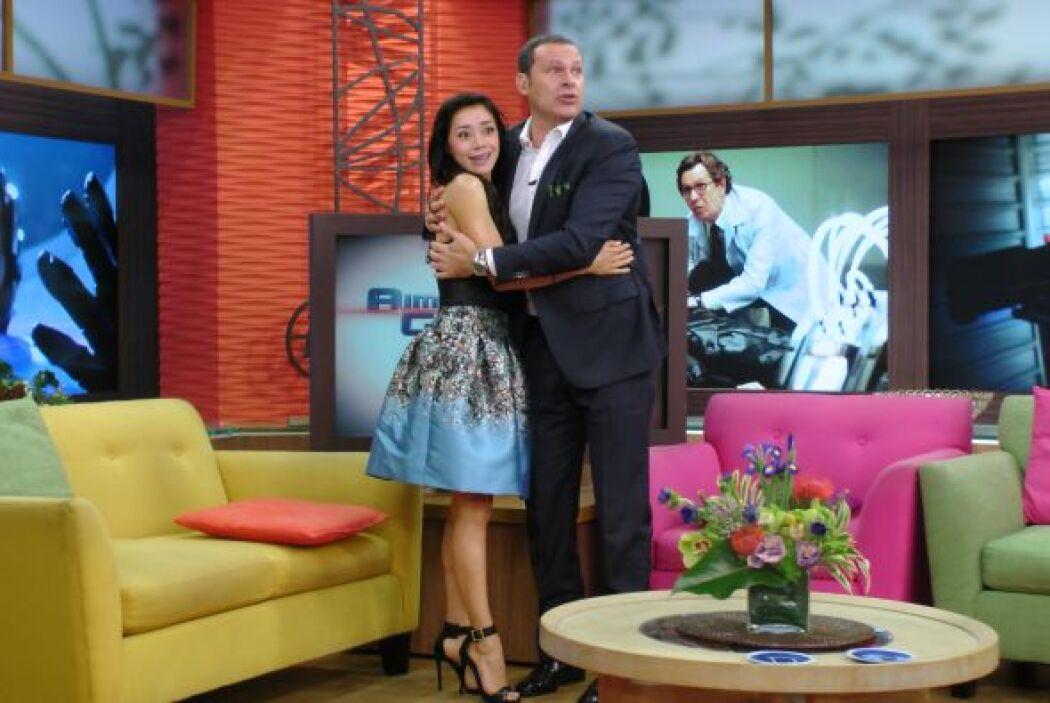 El miércoles, Alan le dio la bienvenida a la actriz Aimée García.