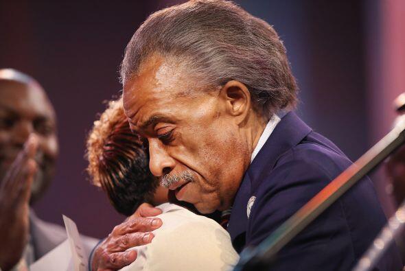 El reverendo afroamericano Al Sharpton, que manifestó que la muer...