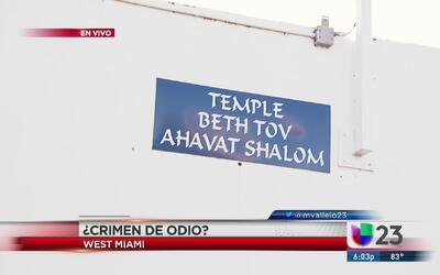 Vandalizan otro centro judío en Miami