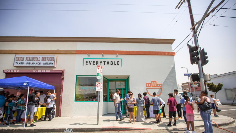 La fiesta de la inauguración de Everytable.