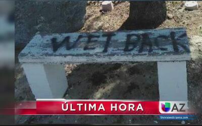 Vandalizan tumba de un hombre hispano