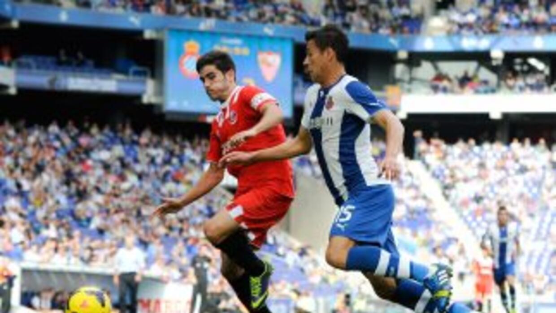 Héctor Moreno y la defensiva del Espanyol pasaron apuros en la última de...