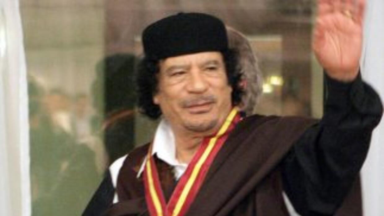 El líder libio, Muamar Gadafi.