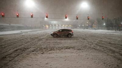 Imágenes de la potente tormenta en Jersey City.