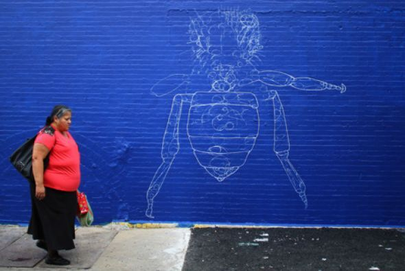 Vega indicó que realizará un mosaico para este festival de arte urbano,...