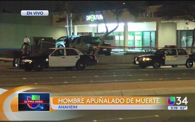Policía investiga la muerte de un hombre en Anaheim