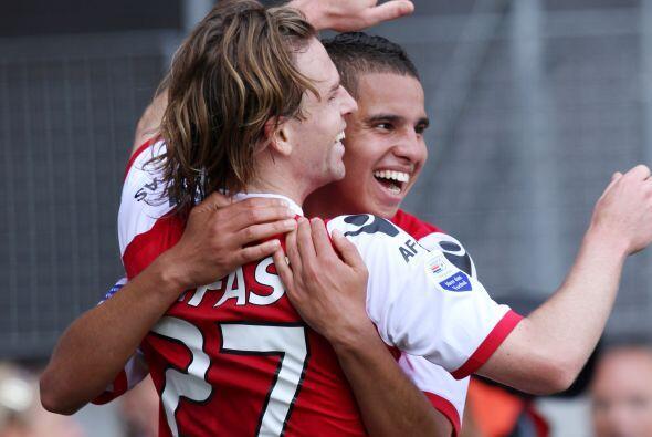 Poulsen convirtió uno de los cuatro tantos que el AZ le hizo al De Graaf...