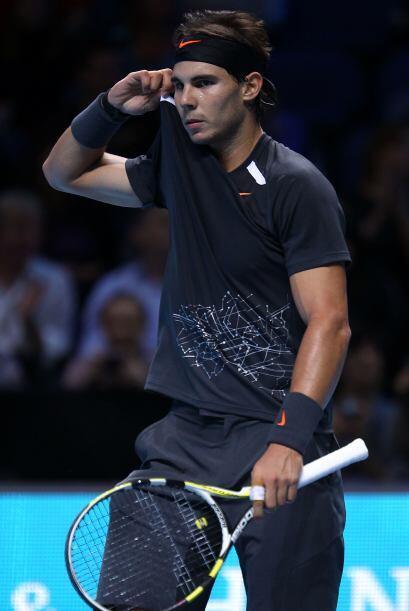 Rafal Nadal no ha tenido una buena temporada y lo demostró en est...