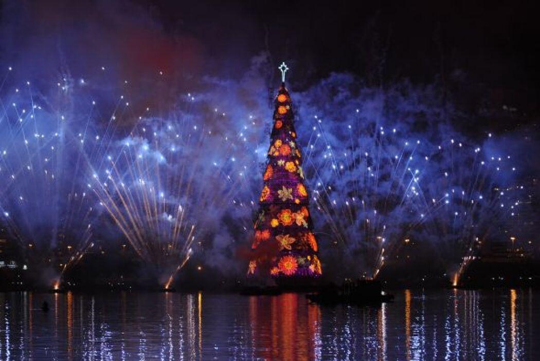 El evento comenzó con un espectáculo de luces, música y fuegos artificia...