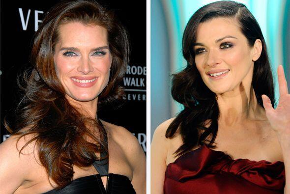 Brooke Shields y Rachel Weiz, dos bellezas gemelas.  Aquí los vid...