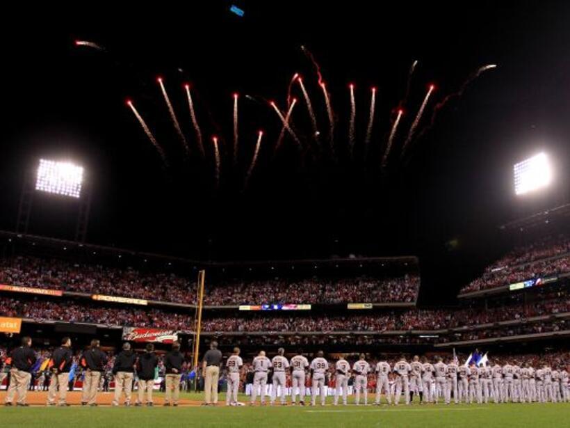 La serie del campeonato de la Liga Nacional entre los Phillies y los Gig...
