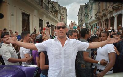 Vin Diesel estuvo en La Habana filmando 'Rápido y Furioso 8'.