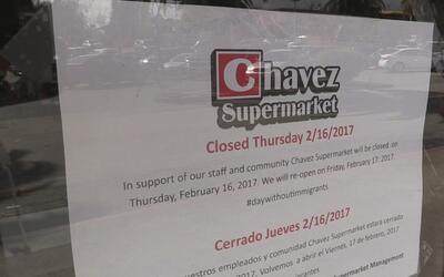 Negocios hispanos del este de San José se solidarizaron con 'Un día sin...
