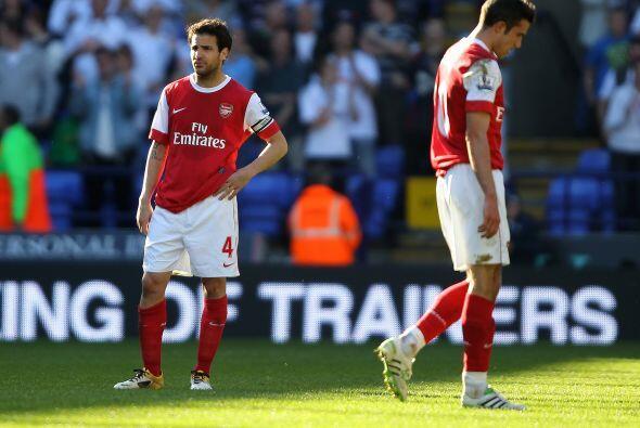 Arsenal perdió por 2-1 y sus opciones de alcanzar el títul...