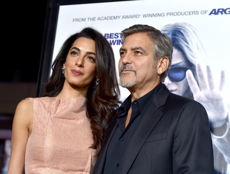 George y Amal durante la premiere de Our Brand is Crisis.