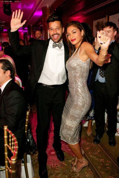 El cantante Ricky Martin fue uno de los bombones que amenizó la noche co...