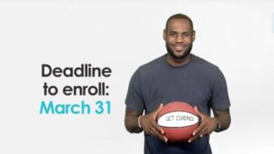 La extrella del Miami Heat, LeBron James, grabó un video promoviendo la...