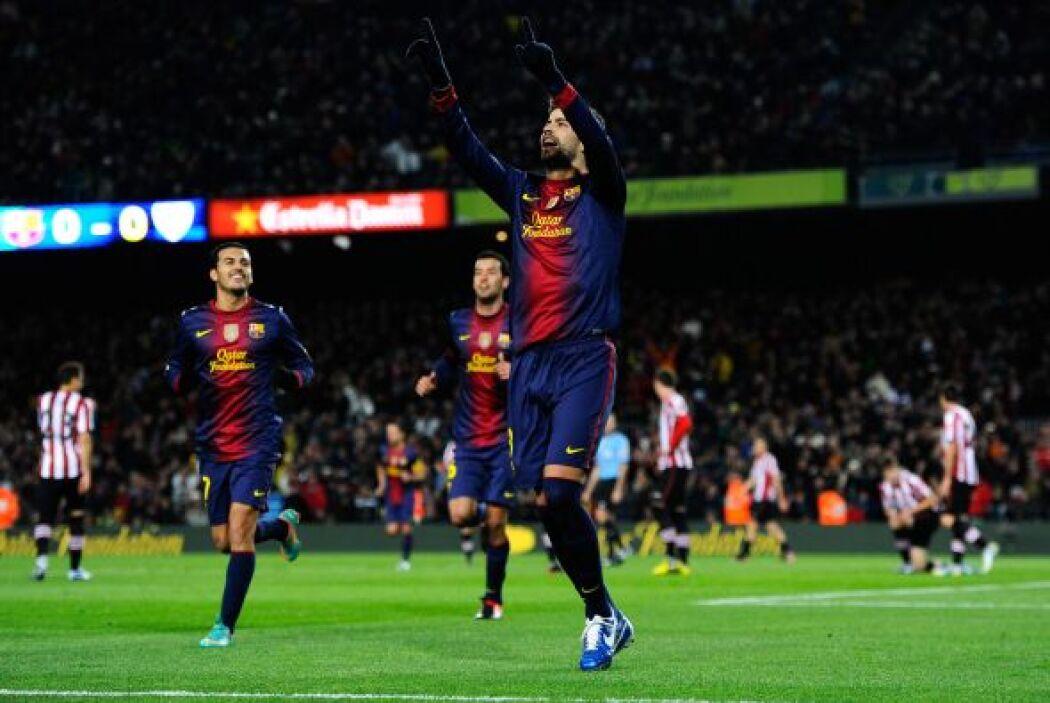 Piqué hizo el primer gol del duelo y fue clave para que la defensa 'blau...