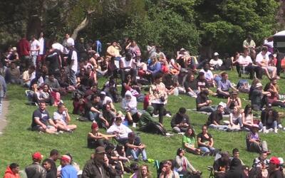 Miles de personas celebraron el día de la marihuana en San Francisco