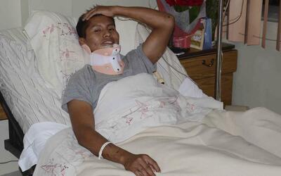 Erwin Tumiri hospitalizado en una clínica de Cochabamba
