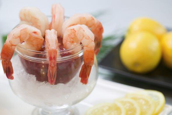 Cóctel de camarones No es malo comer mariscos de noche, siempre y cuando...