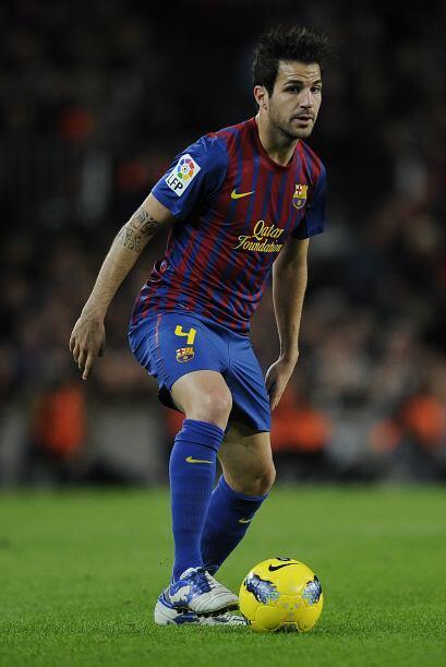 Después, tenemos al español Cesc Fábregas del Barcelona.