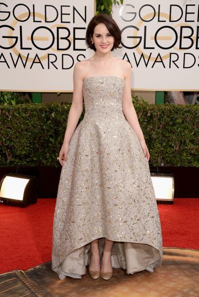 Una de las princesas de la noche fue Michelle Dockery. La verdad su vest...