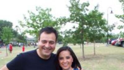 Jorge Núñez y Anabel Monge en Únase al Reto motivando a la comunidad a p...