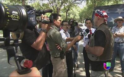 """La milicia civil """"Convoy de la frontera"""" suspende su protesta en Texas"""