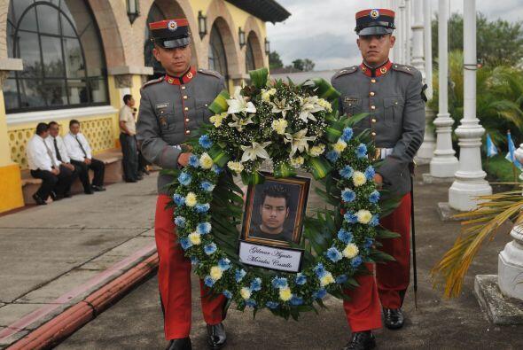 Los féretros de Gilmar Agusto Morales Castillo, Hermelindo Maquín Huerta...