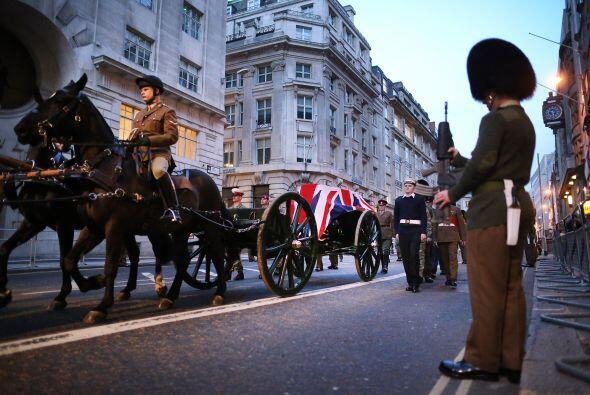 El costo del funeral de Thatcher, estimado por los medios en hasta 10 mi...