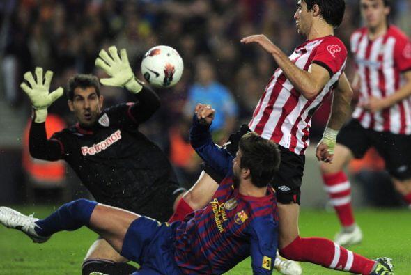 El Barcelona pudo haber marcado en el comienzo pero Gorka Iraizoz siempr...