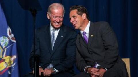 Joe Biden y Andrew Cuomo.