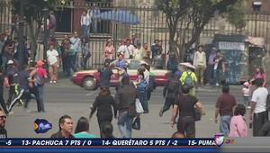 Barras de Pumas y América se pelean en reunión de paz