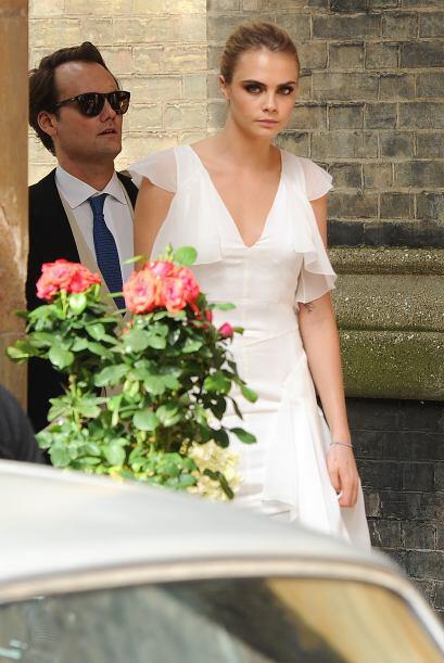 El estilo de la modelo estuvo inspirado en el tema de la boda, 'hippie c...