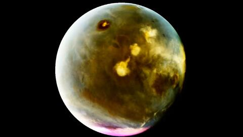 Marte, el planeta rojo, se tiñe de dorado