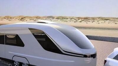 La forma de cono del vehículo, construido con fibra de vidrio, permite q...