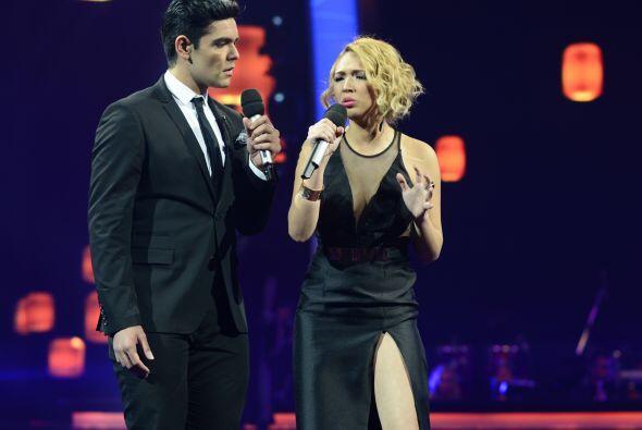 Espiridión cantó a dueto con Paloma Carrasco en la segunda...