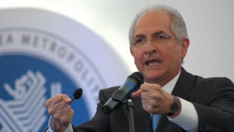 Ledezma fue detenido este jueves por funcionarios del Servicio Bolivaria...