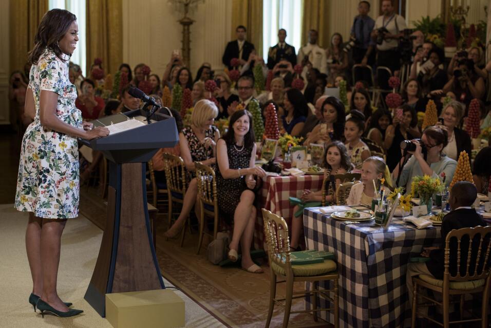 Michelle Obama y su optimismo hecho vestido   GettyImages-480247694.jpg